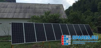Солнечная электростанция на кордоне Черноречье Кавказского заповедника